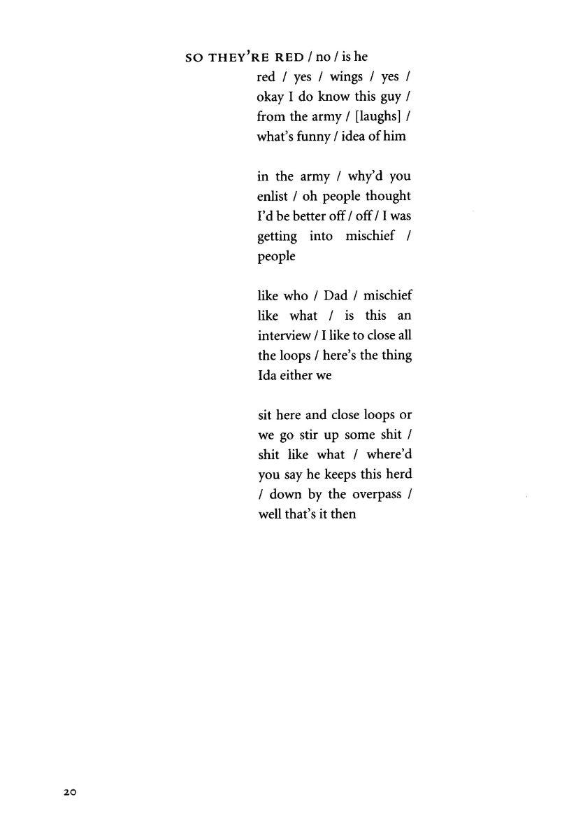 Anne Carson, Red Doc>