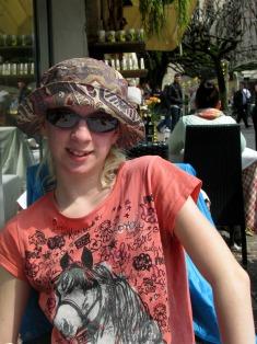 Sarah at Sirmione