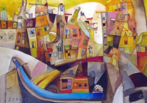 Miljenko Bengez painting, as seen in Pordenone